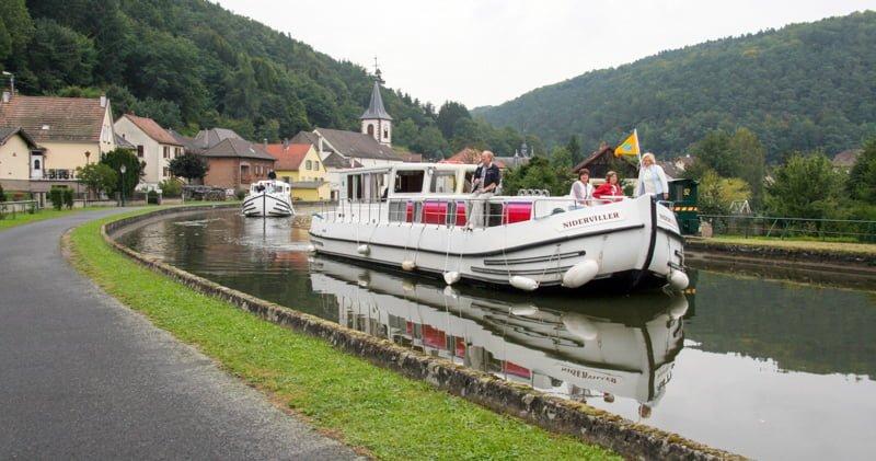 Lutzelbourg wypływamy z portu