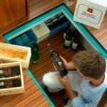 Linssen 34.9 - schowek na wino