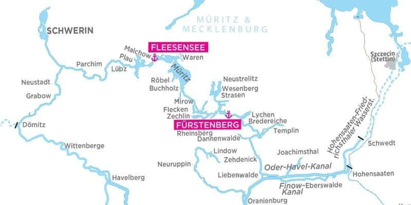 Meklemburgia - mapa