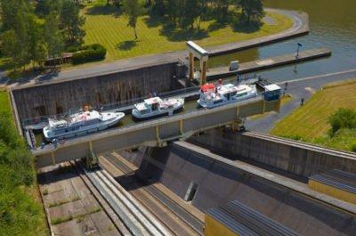 Alzacja - Lotaryngia winda w Arzviller kanał Marna-Ren