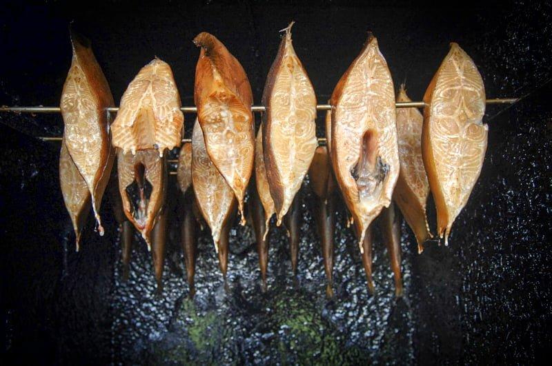 Meklemburgia wakacje na barce wędzone ryby
