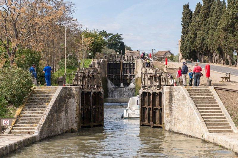 Śluzy kilkustopniowe na Canal du Midi