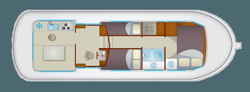 Penichette 1107W - plan wnętrza