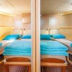 Penichette 1500 FB - widok na dwie kabiny dziobowe
