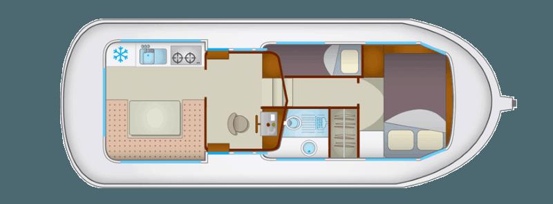 Penichette 935W - plan wnętrza