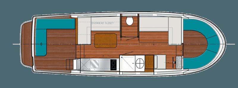 Penichette 950 Evolution - plan wnętrza
