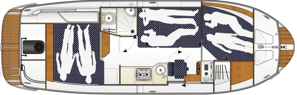 Sun Camper 30 FB - plan wnętrza
