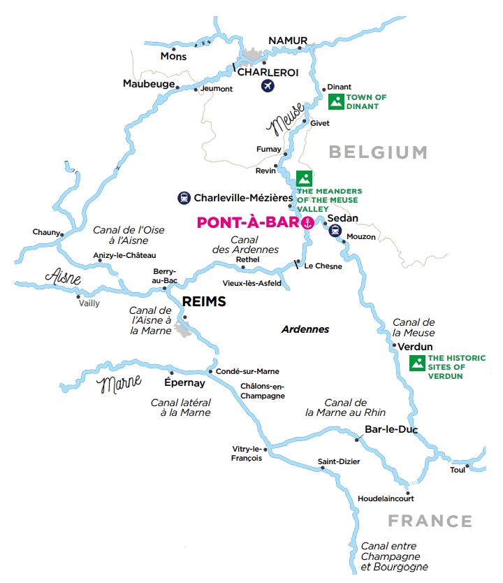 Ardeny - mapa