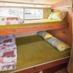 kabina z wiszącą koją