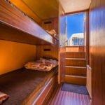 Penichette 1400 FB - kabina rufowa z kojami piętrowymi