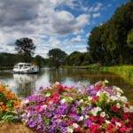 Śluza we Francji - kwiaty