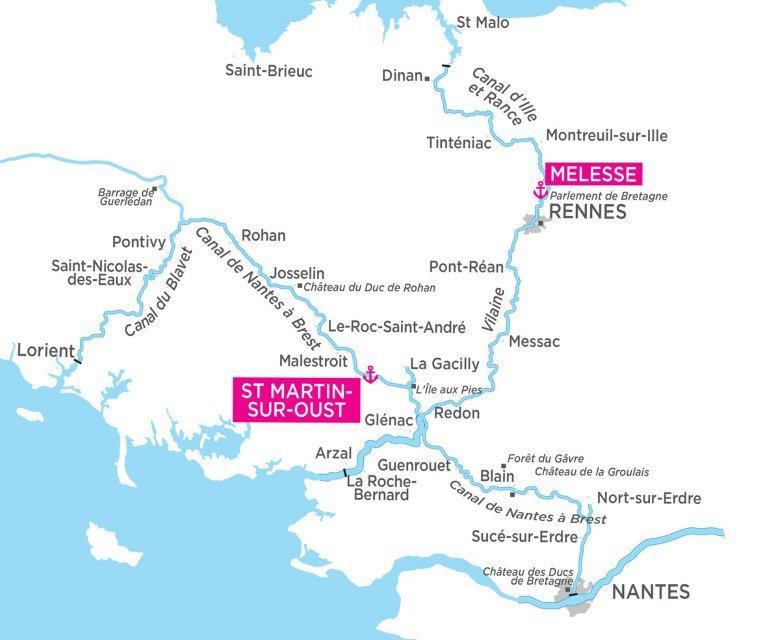 Bretania - mapa