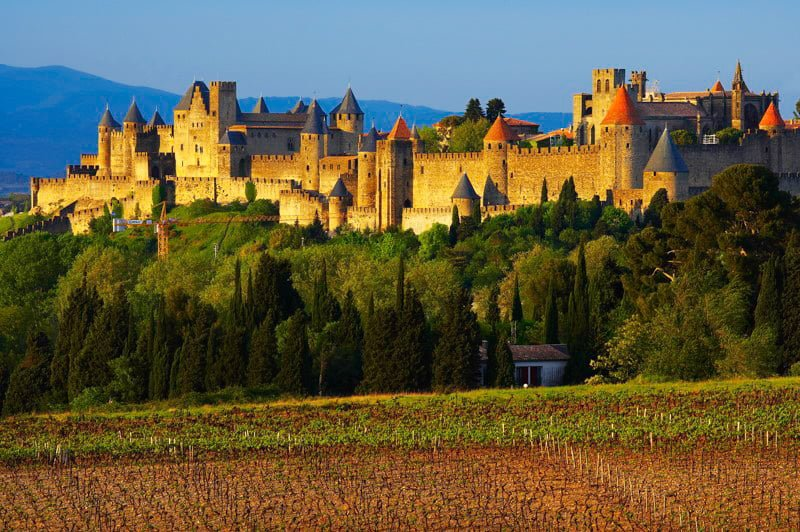Carcassonne Cite Canal du Midi