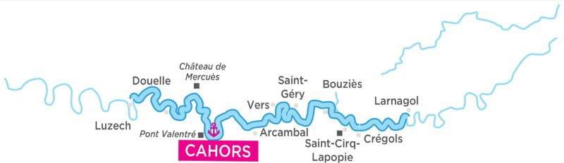 Dolina Lot - mapa