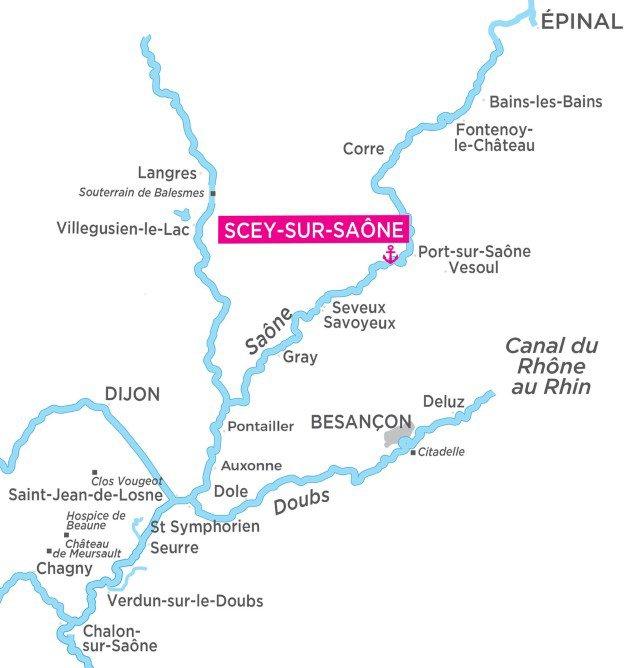 Franche Comte - mapa