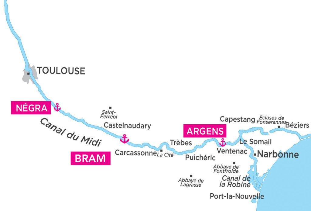 Langwedocja – Canal du Midi - mapa