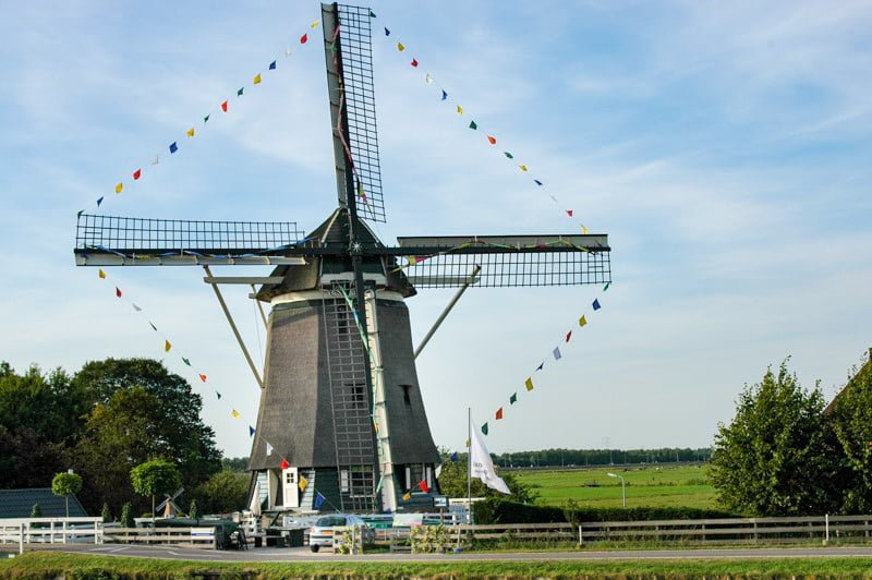 wiatrak Holandia wakacje na barce