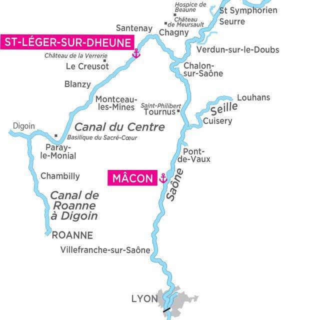 Burgundia - mapa