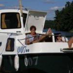 Miejsce do opalania na dziobie barki Haber 20