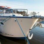 dziób na barce Nautika 830