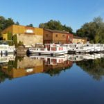 Scey-sur-Saone Burgundia wakacje na barce port