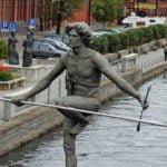Bydgoszcz Przechodzący przez rzekę wakcje na barce