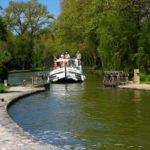 Canal du Midi śluza wakacje na barce