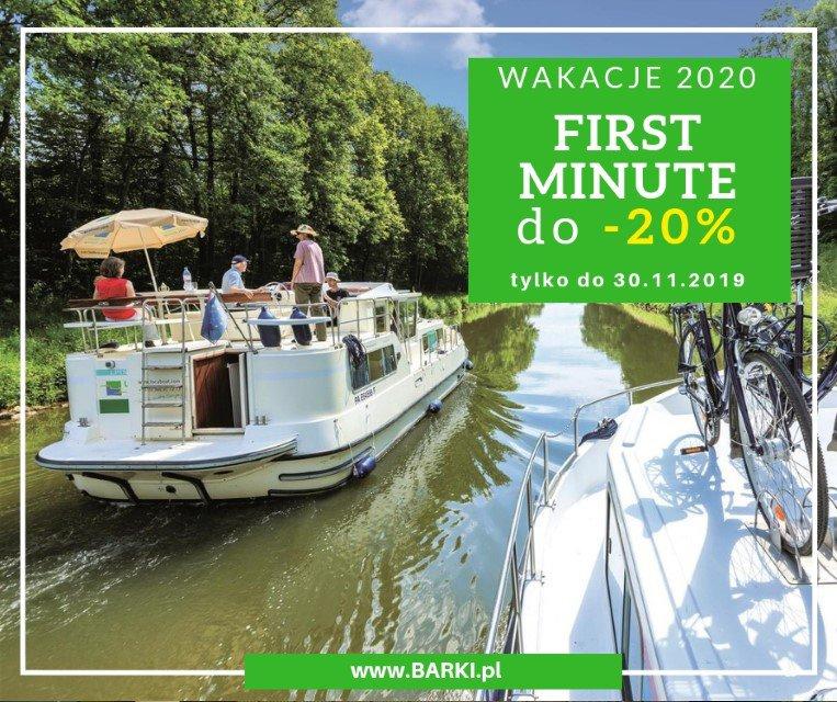 First Minute do -20% wakacje na barce 2020