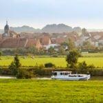 Franche-Comte rzeka Saone wakacje na barce