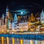 Gdańsk nocą Starówka wakcje na barce