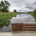 Postój barką na rzece Nogat