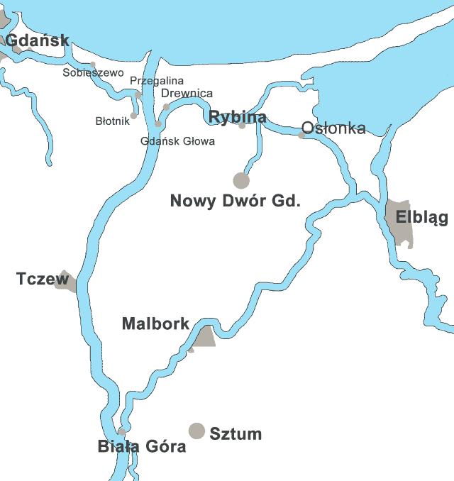 Pętla Żuławska - mapa