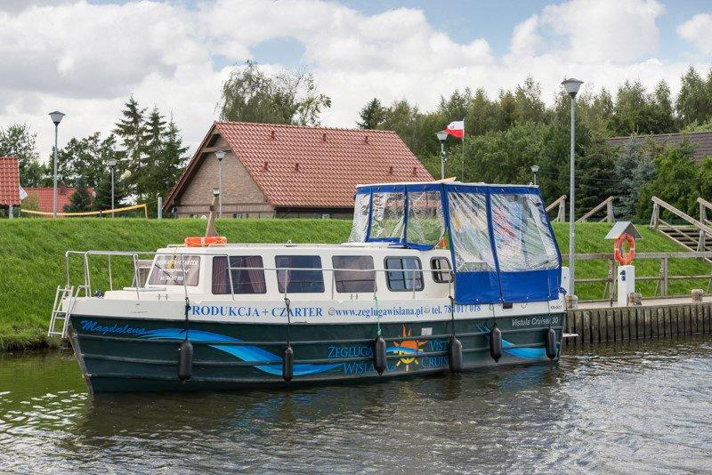 Przystań w Osłońce barka vistula cruiser Pętla Żuławska