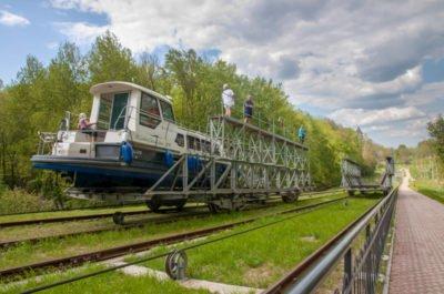 Pochylnia Buczyniec Kanał Elbląski wakacje na barce