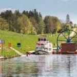 Pochylnia Kąty Kanał Elbląski wakacje na barce