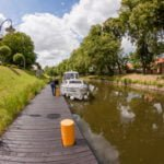 Śluza Ostróda Kanał Elbląski wakacje na barce
