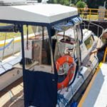 Śluza Zielona Kanał Elbląski wakacje na barce