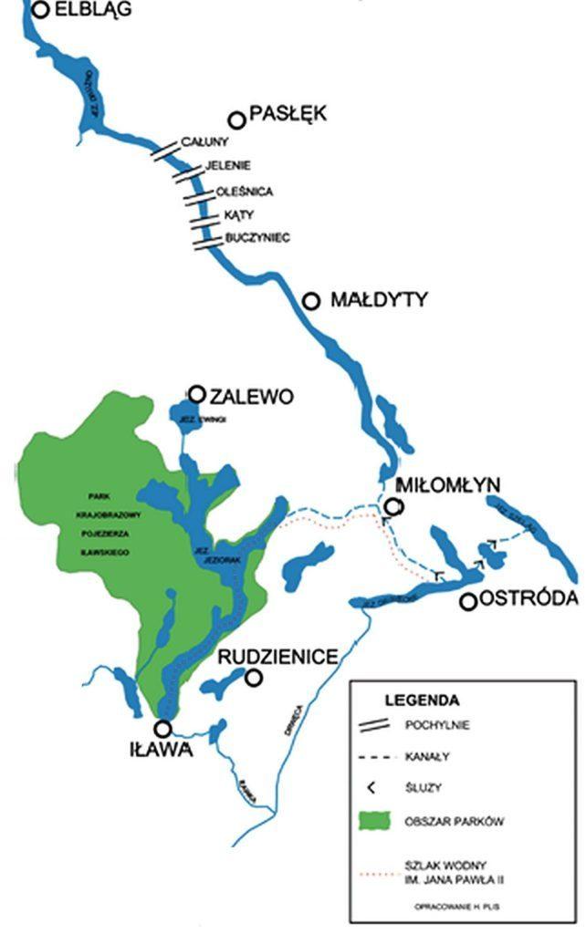 Kanał Elbląski - trasa