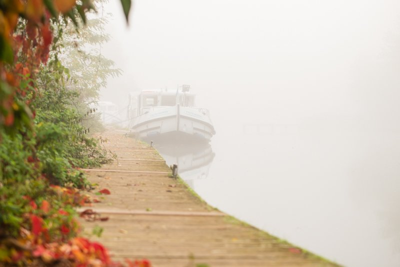 Mgła na rzece Baise