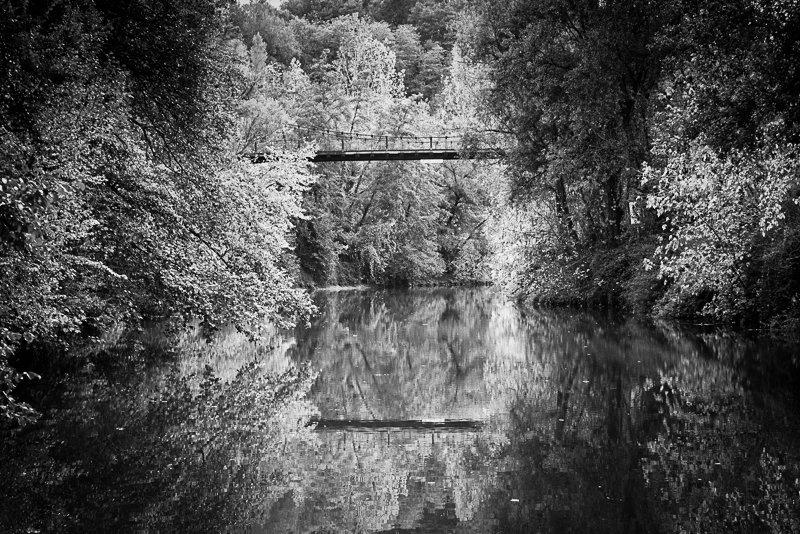 Rzeka Baise most w Vianne