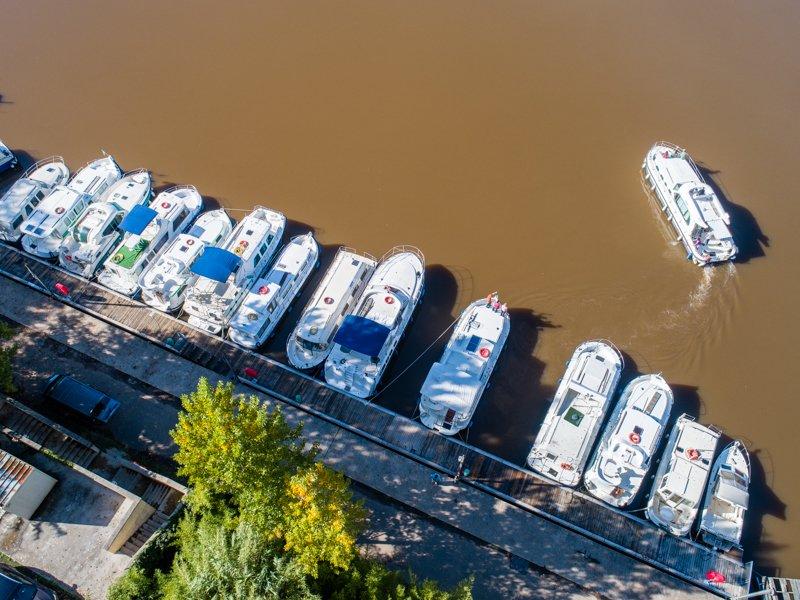 Baza w Cahors - trasa rzeka Lot