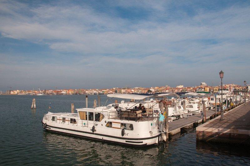 Barki w porcie w Chioggia