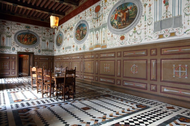 Zamek Ancy le Franc wnętrza